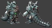 Official ROBOKOMODODON mesh for the free Kaiju Combat release presenting Kaiju Land!