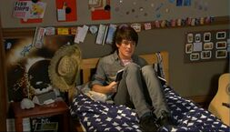 Fabian on his bed