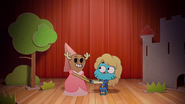 Penny Fitzgerald and Gumball Watterson at the schoolplay on The Shell 9