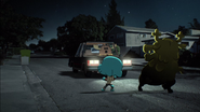 Penny Fitzgerald and Gumball Watterson almost got hit by Patrick Fitzgerald's car on The Shell