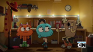 Penny Fitzgerald and Gumball and Darwin Watterson on The Shell