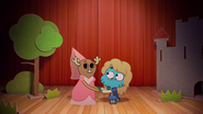Penny Fitzgerald and Gumball Watterson at the schoolplay on The Shell 4