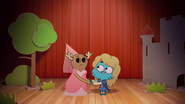 Penny Fitzgerald and Gumball Watterson at the schoolplay on The Shell 6