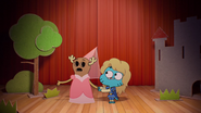 Penny Fitzgerald and Gumball Watterson at the schoolplay on The Shell 5