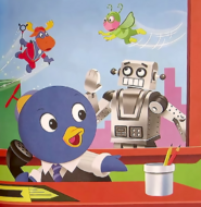 The Backyardigans Giant Robot in Front-Page News Book