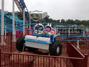 The Backyardigans Mission to Mars Roller Coaster at Movie Park Germany ROVER Statue