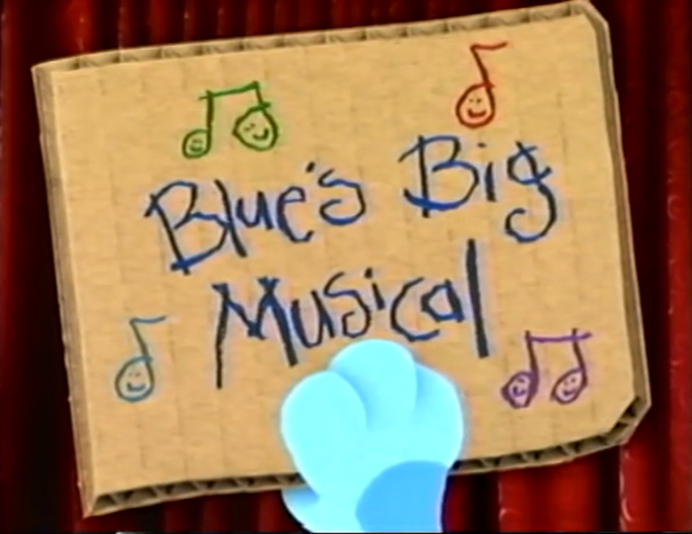 blue u0027s big musical blue u0027s clues wiki fandom powered by wikia