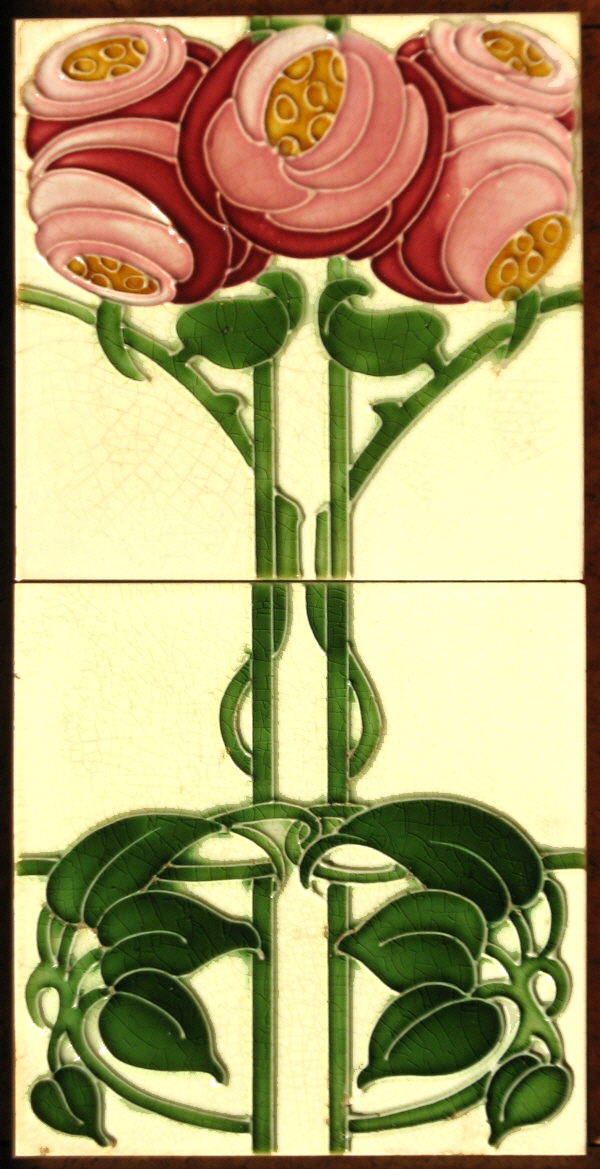Art Nouveau Roses T Amp R Boote The Decorated Tile Wiki