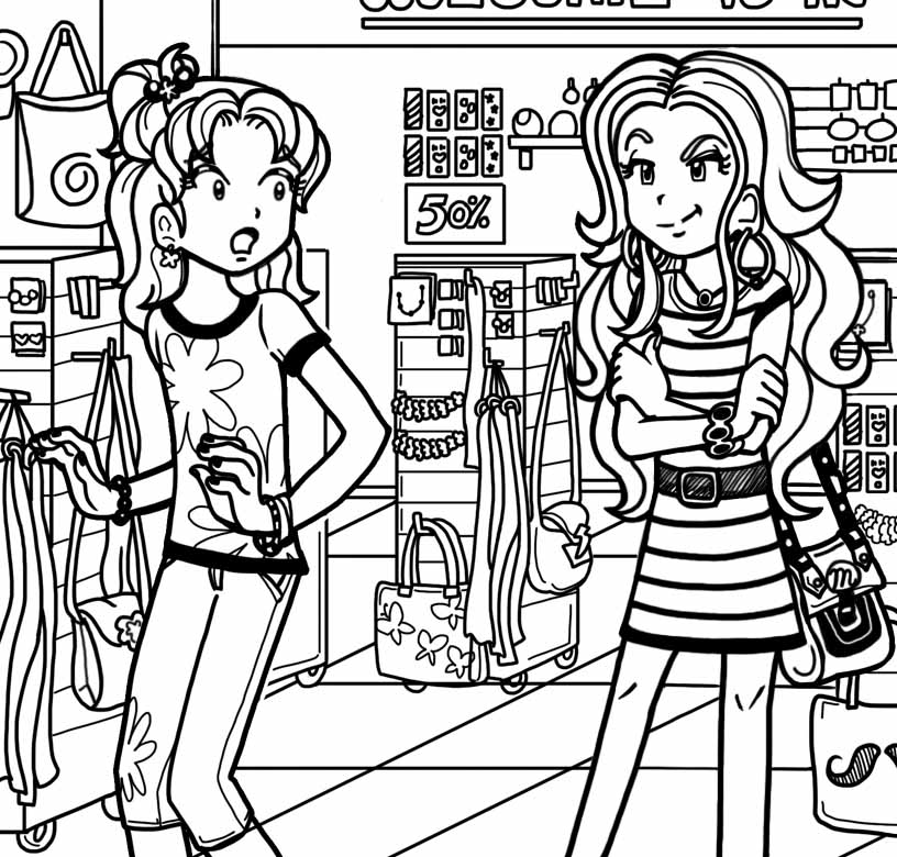 dork diaries 8 coloring pages - photo#19