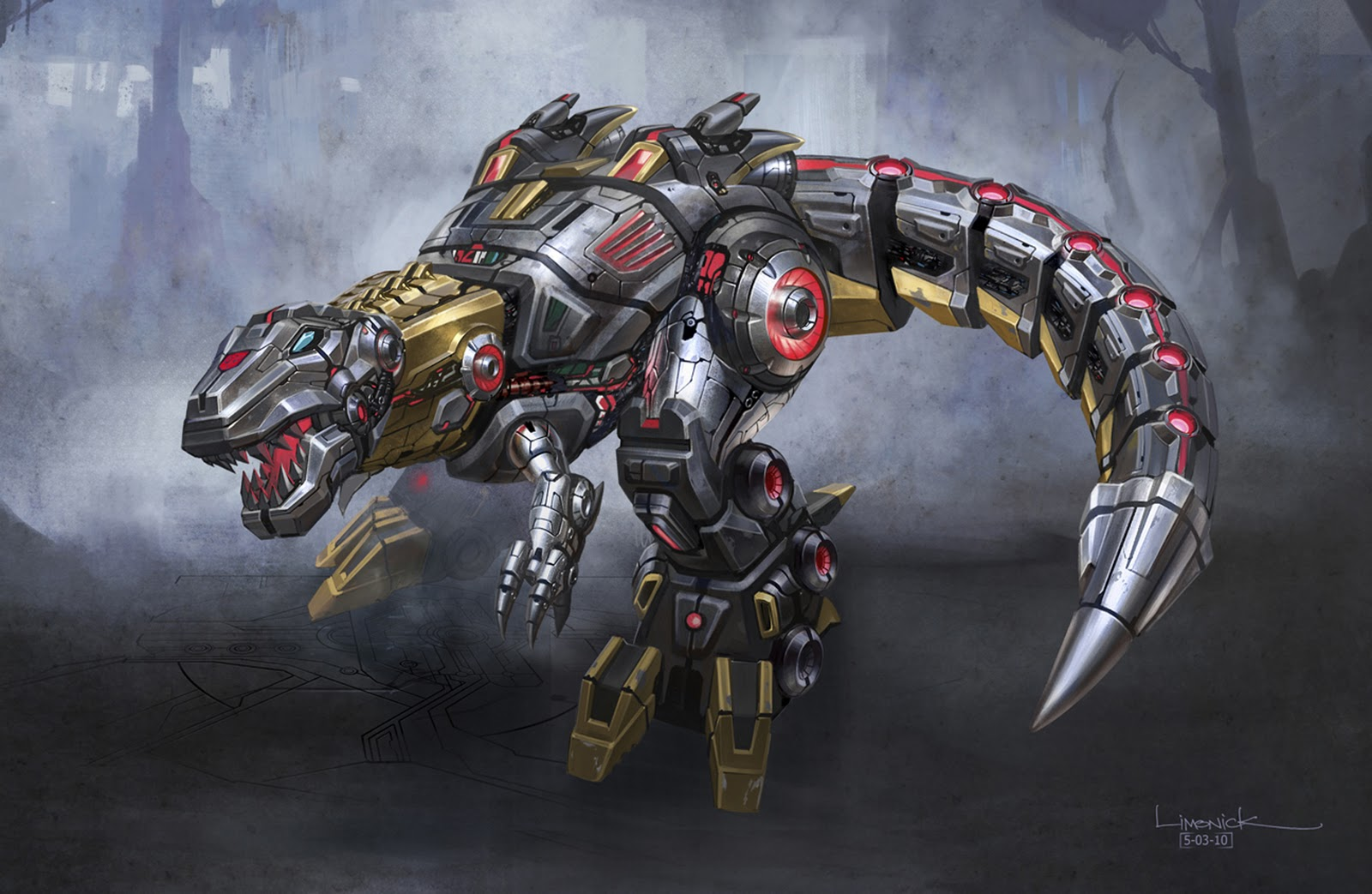 Transformers Fall Of Cybetron Dinobot Grimlock