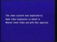 Warner Home Video Warning Screen (1980) (S1)