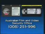 CBS-FOX Video Australian Piracy Warning (1989) AFaVSO information