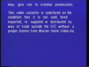 Warner Home Video Warning Screen (1980) (S3)