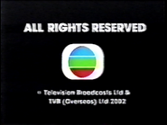 2002 - TVBI Company Limited Copyright Screen in English