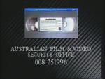CBS-FOX Video Australian Piracy Warning (1991) AFaVSO information