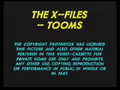 20th Century Fox Home Entertainment UK Warning (1995) (The X-Files - Tooms) (S1)