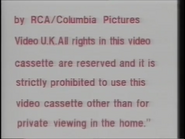 RCA-Columbia Pictures International Video Warning (1982) (S3)