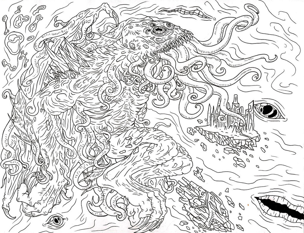 The cthulhu mythos the fear mythos wiki fandom powered for Cthulhu coloring pages