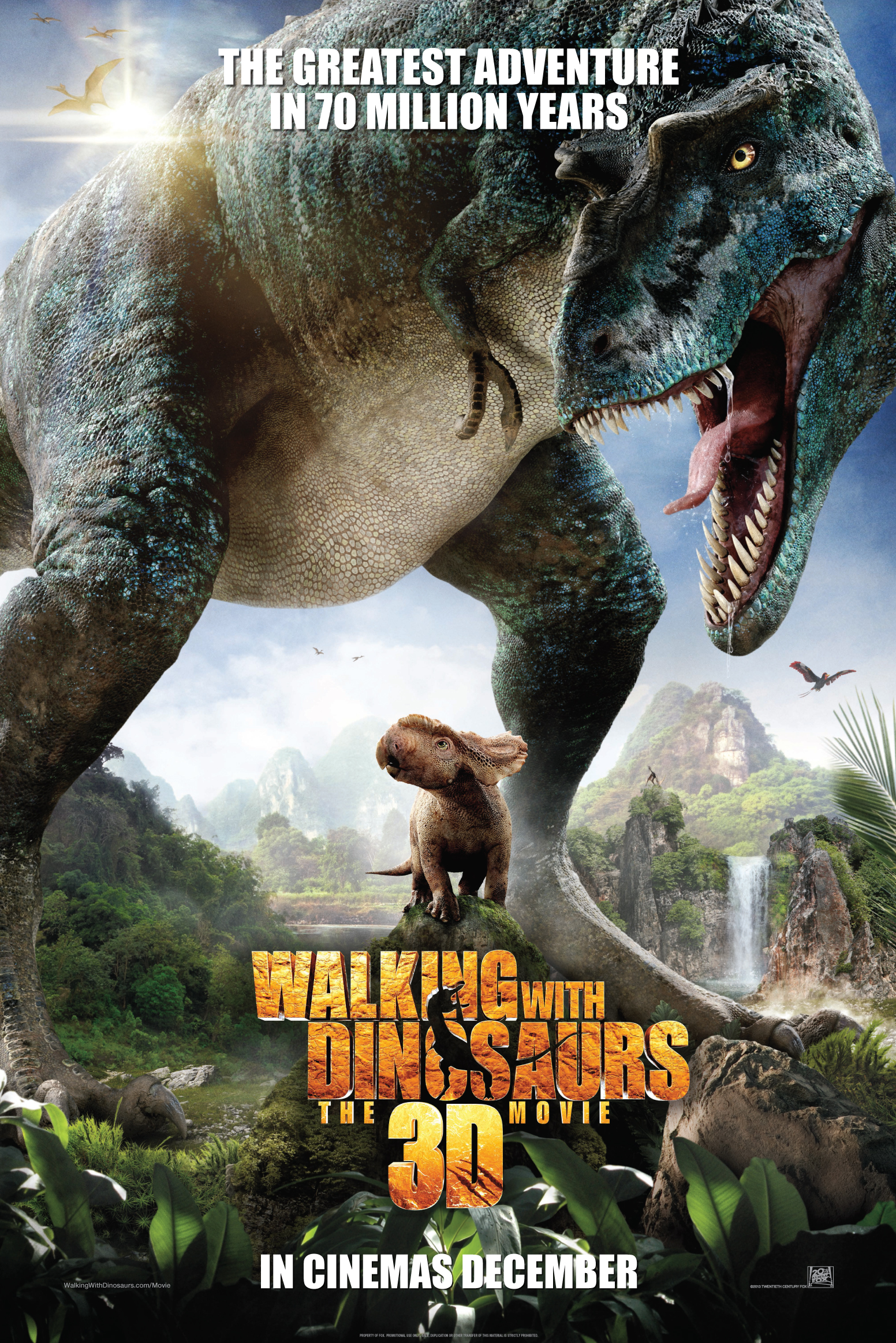 Walking with dinosaurs poster Dinosaurs Movie