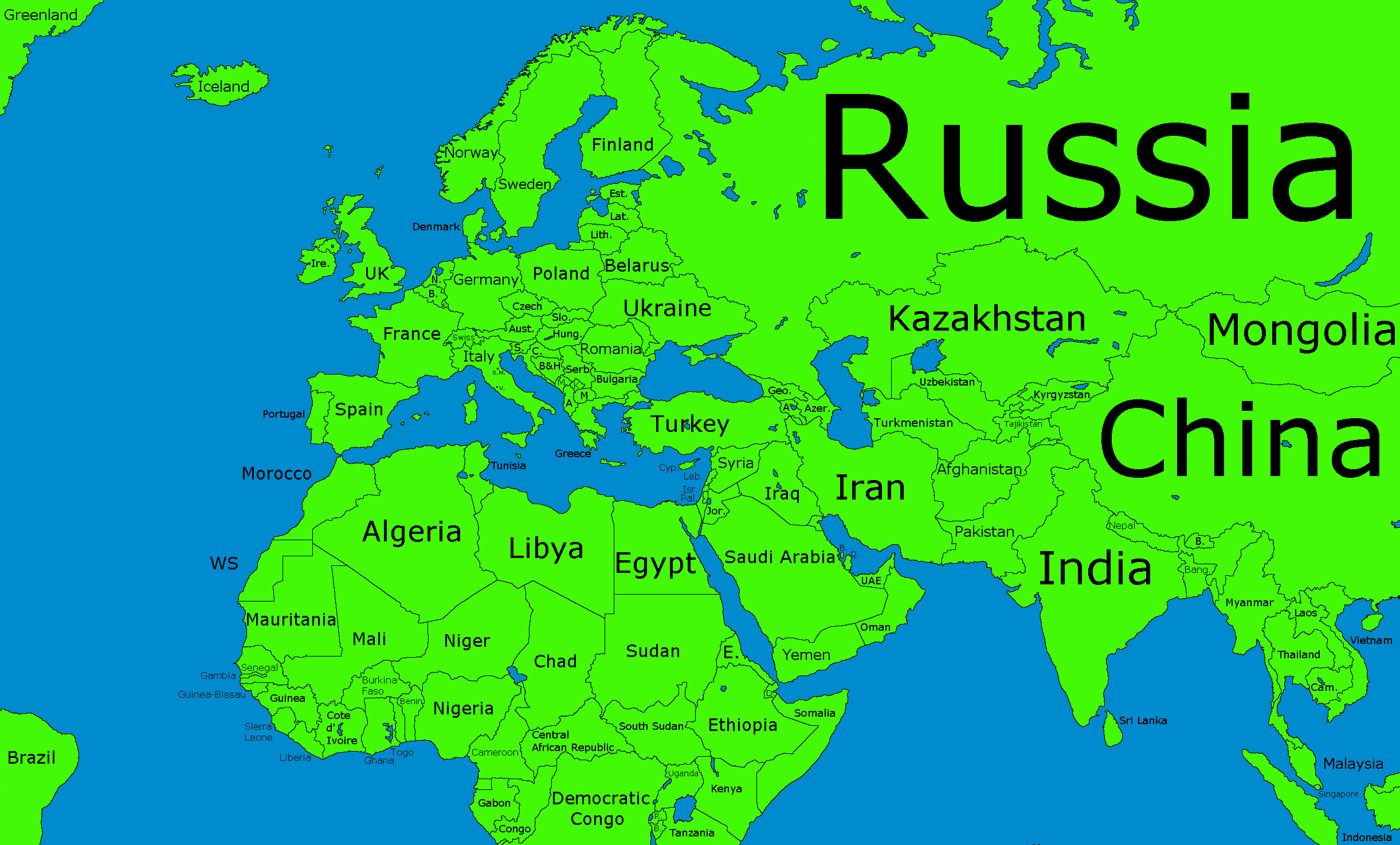 Maps Update 18451067 Asia Europe Map eastern Europe and middle – Full Map of Asia