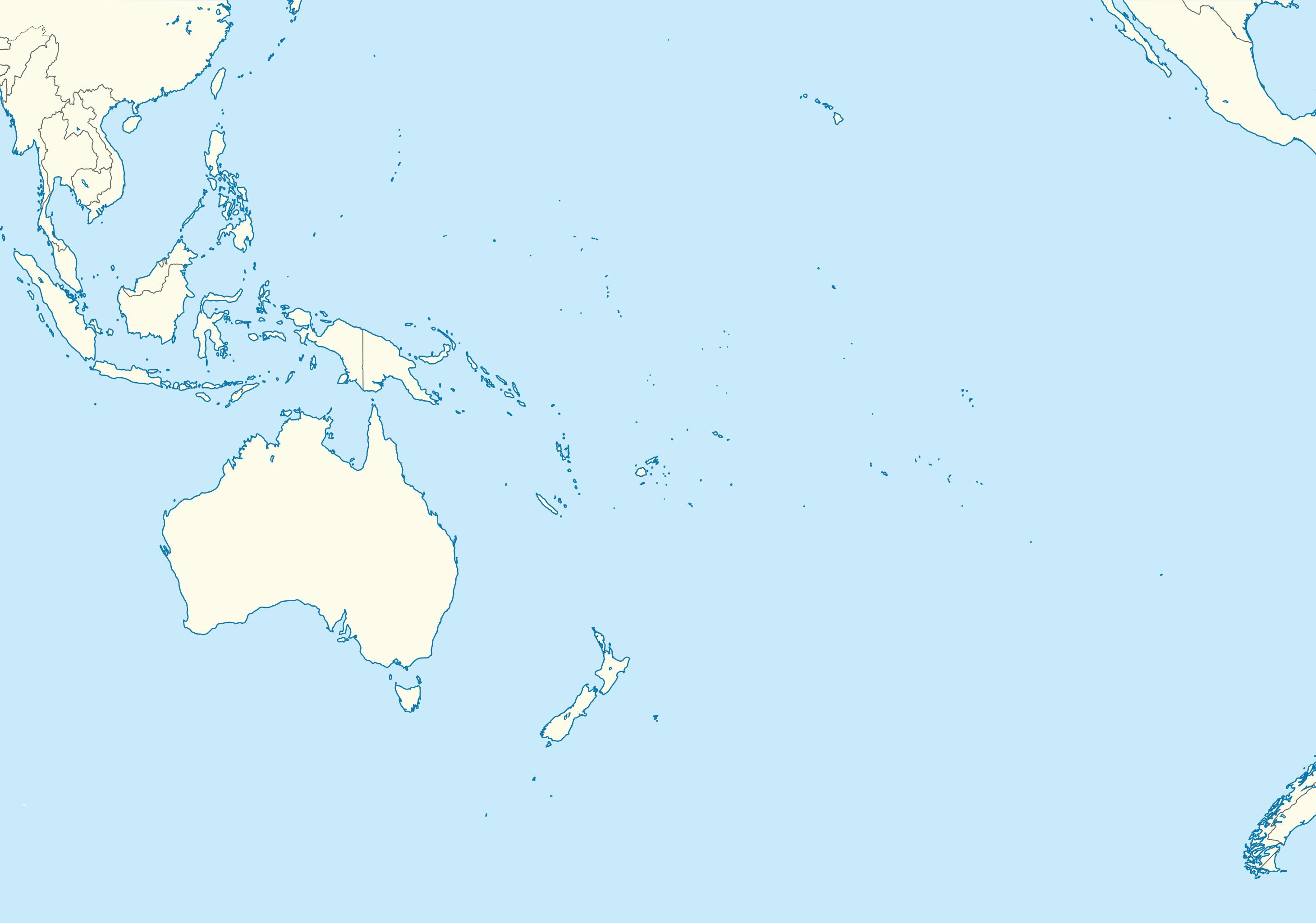 Blank Map Of Oceania FileOceania full blank map