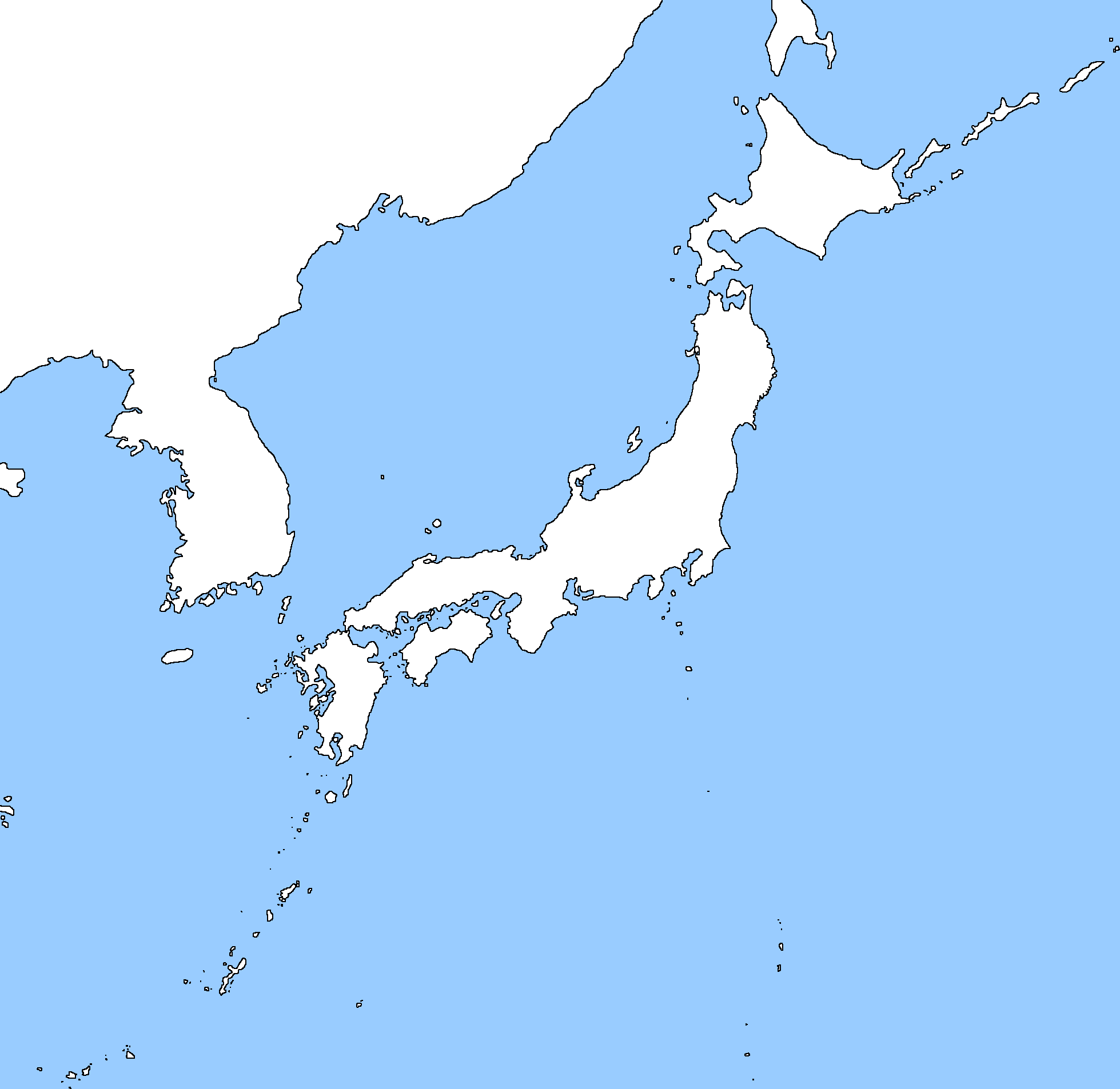 Image Blank Map Of Japan And Koreapng TheFutureOfEuropes Wiki - Japan map korea
