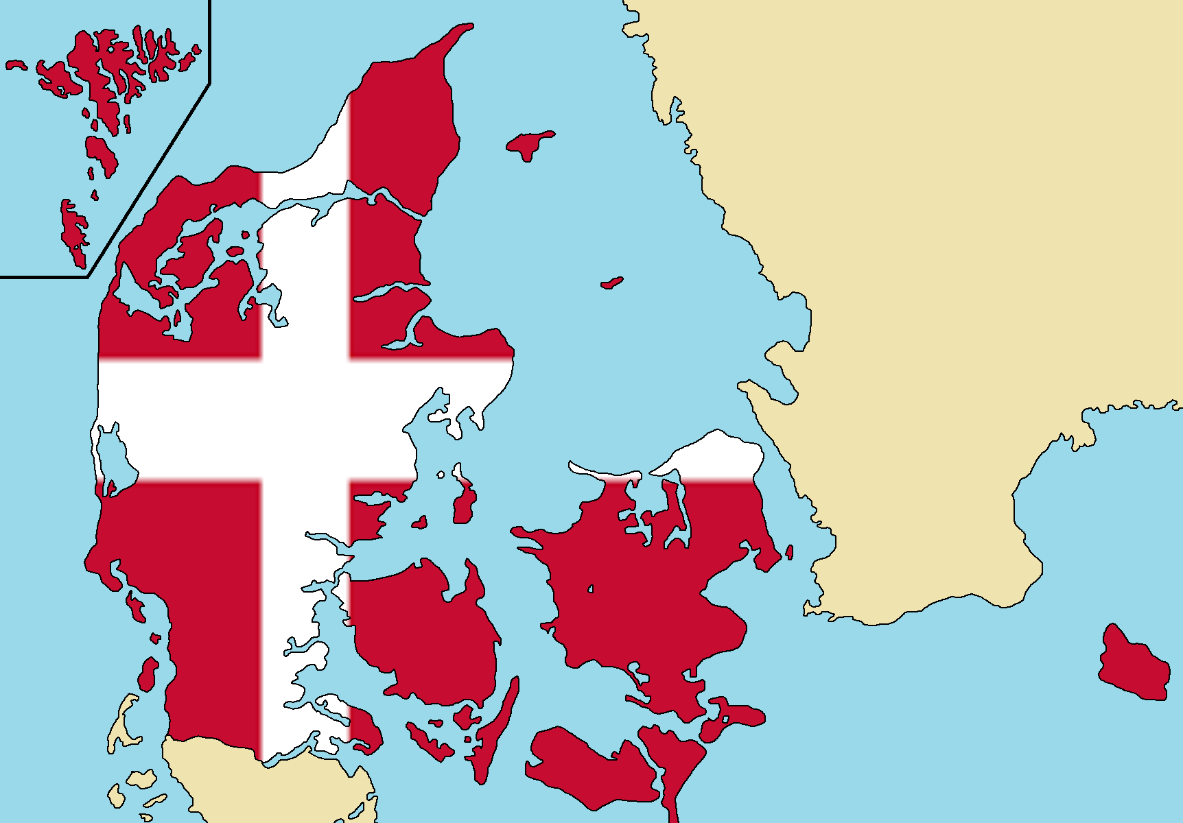 Image Blank Map Of Denmarkpng TheFutureOfEuropes Wiki - Map of denmark