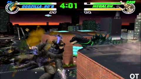 Godzilla Destroy All Monsters Melee - Godzilla 90s vs Megalon