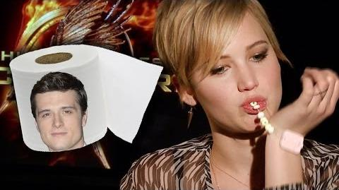 Jennifer Lawrence Eats Entire Bracelet During Catching Fire Interview - Exclusive