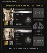 District 1 Tributes