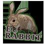 European rabbit badge