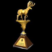 Trophy wt gold