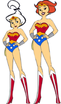 Jane and judy jetson as wonder woman by darthraner83-d8g493z
