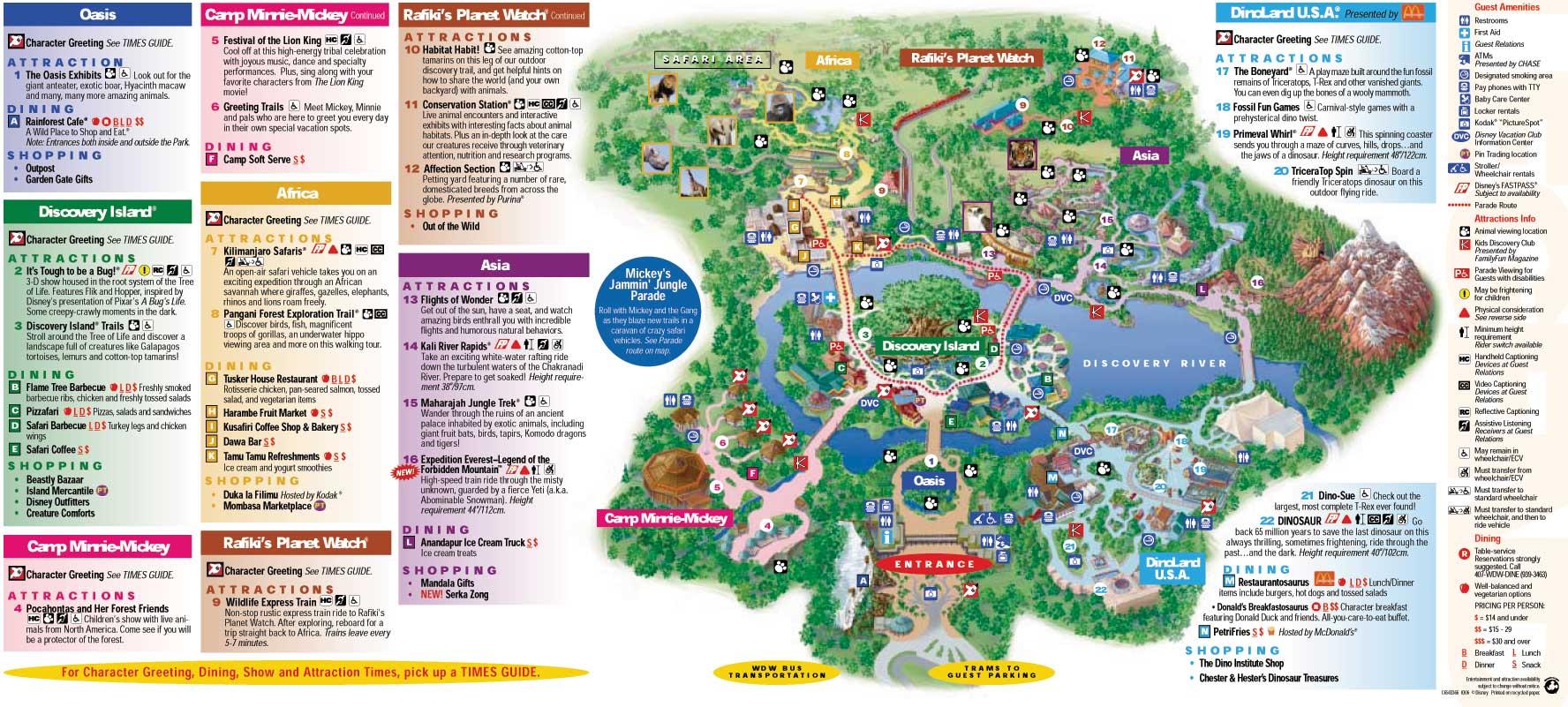 Image - Animal-Kingdom-Park-Map.jpg | The KingdomKeepers ...