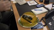 Stapler in jello