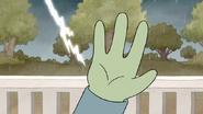 S7E08.088 Lightning Striking Near Muscle Man's Hand