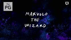 S7E30 Marvolo the Wizard Title Card