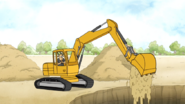 S5E19.118 Thomas Dumping Down the Dirt