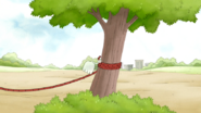S5E19.051 Hi-Five Tying a Rope Around a Tree