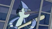 S3E04.321 Mordecai with a Baseball Bat