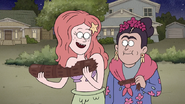 S7E09.361 Ariel and Frida Kahlo Eating Rigby
