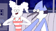 S6E01.002 Mordecai and CJ Singing Whoomp! (There It Is) 02