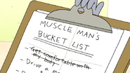 S6E05.029 Benson Putting the Bucket List on His Clipboard