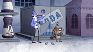 S4E36.191 Mordecai and Rigby Holding Cans of Soda