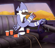 S5E01.106 Mordecai Drinking Coffee