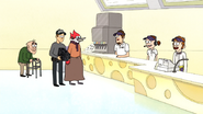S7E04.034 Cheezer's Employees Laughing at Margaret
