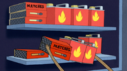 S4E26.158 Rigby Grabbing Matches and Flammable Liquids