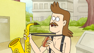 S6E11.067 Sad Sax Guy Eating a Trash Hot Dog