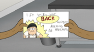 S6E06.048 Lift With Your Back Moving Co. Business Card