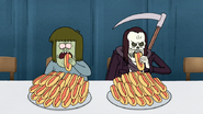 S4E34.111 Muscle Man and Death Begins the Hot Dog Eating Contest